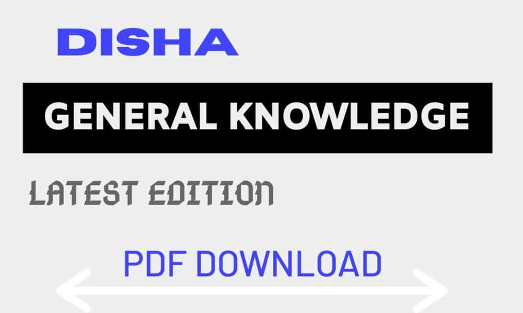 Disha General Knowledge Latest Edition PDF