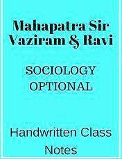 Mahapatra Sir Vajiram & Ravi Sociology Notes in PDF