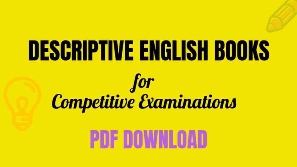 Descriptive English Books for Competitive Examinations PDF