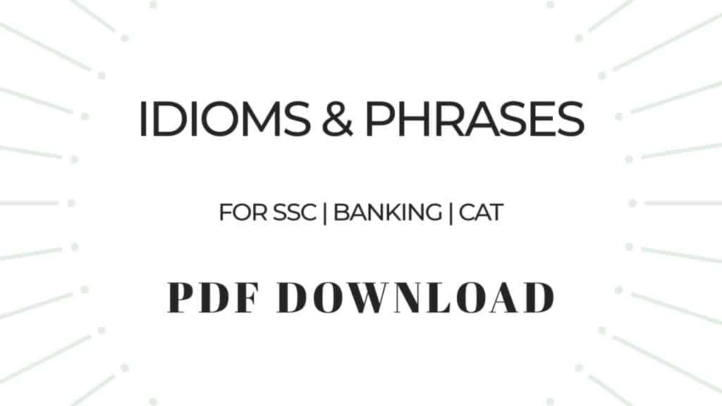 Idioms and Phrases in PDF Download