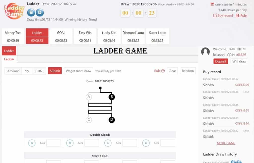 RoyalWin Ladder Game