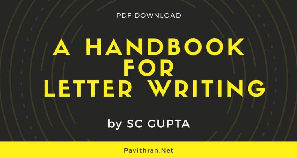 A Handbook for Letter Writing by SC Gupta PDF