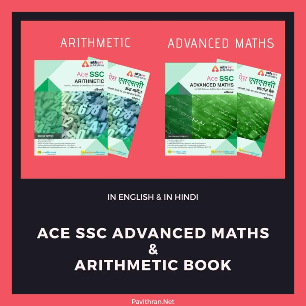 Ace SSC Advanced Maths & Arithmetic Book in English & in Hindi