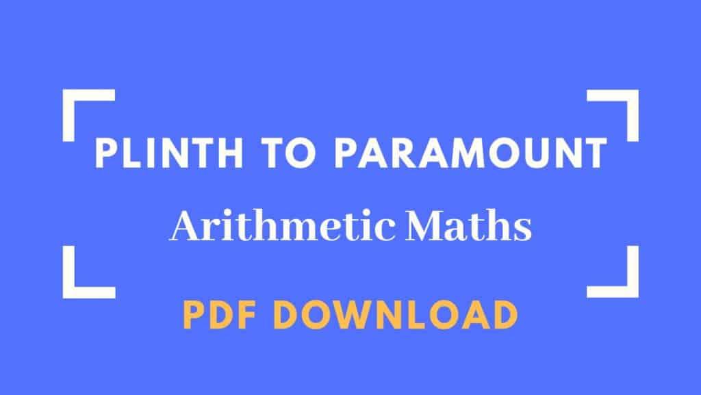 Plinth to Paramount Arithmetic Maths Book PDF Download