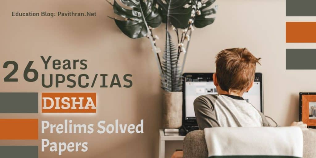 Disha 26 Years UPSC, IAS Prelims Solved Papers PDF