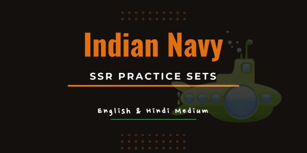 Indian Navy SSR Practice Sets Pdf